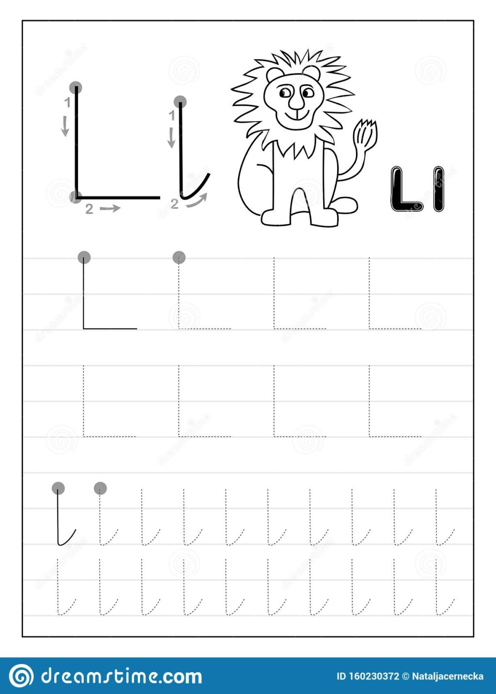 Worksheet ~ Tracing Alphabet Letter L Black And White intended for Alphabet L Tracing
