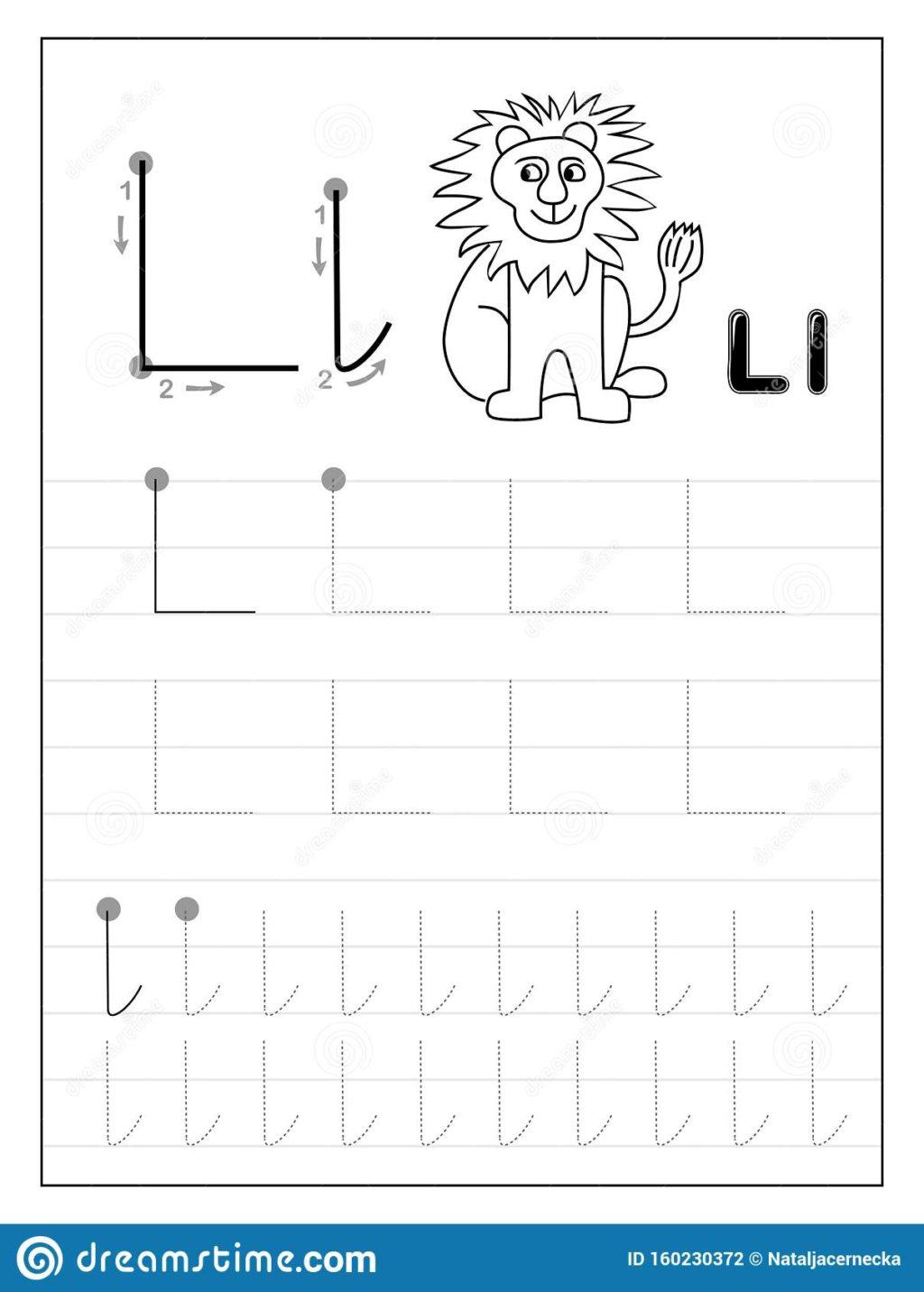 Worksheet ~ Tracing Alphabet Letter L Black And White regarding Letter L Tracing Preschool