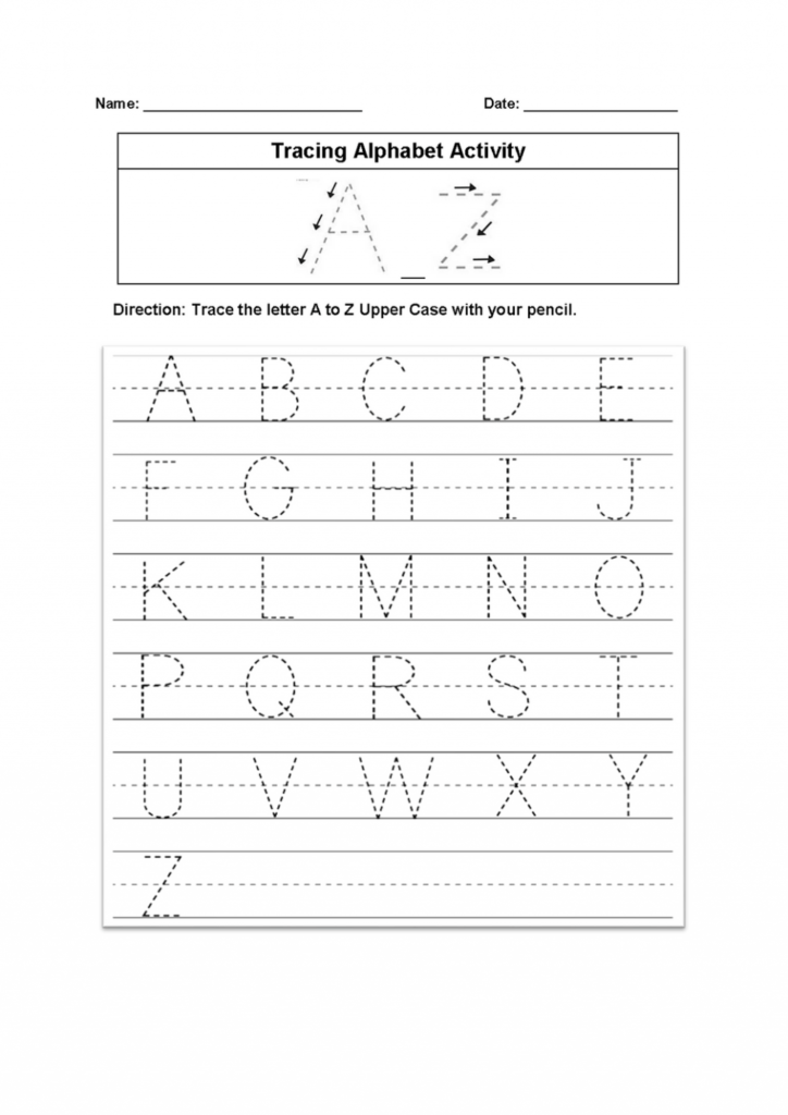 Worksheet ~ Tracing Alphabet Worksheet Worksheets Pdf With