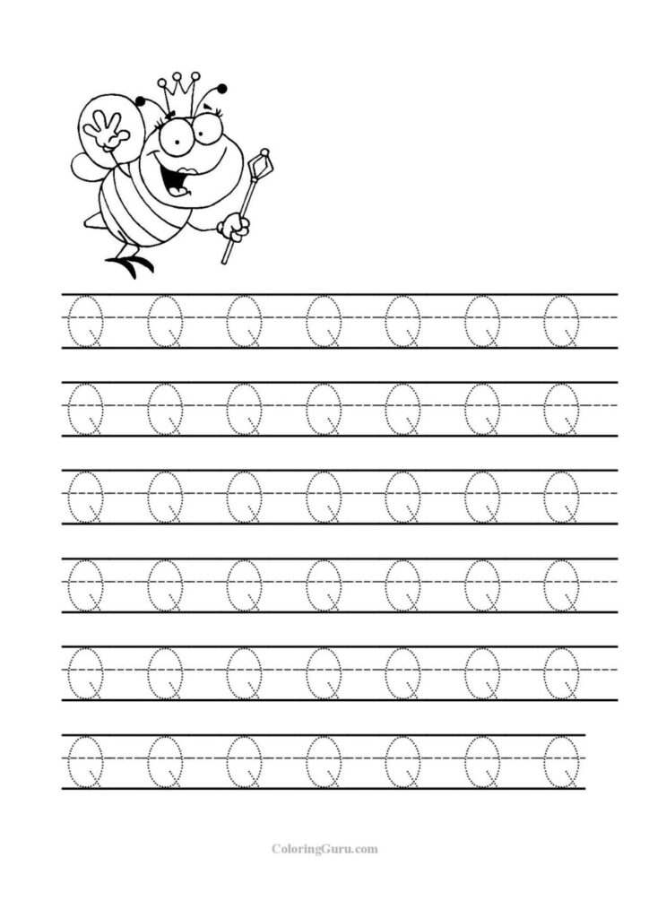 Worksheet ~ Tracing Letter Q Worksheets For Preschool Jpg