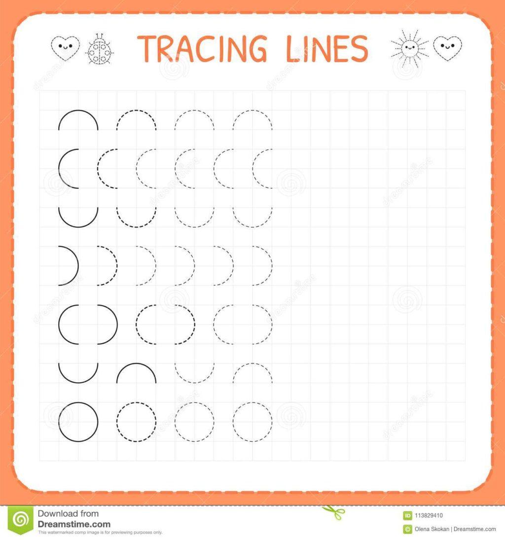 Worksheet ~ Tracing Linesrksheet Kids Basic Writingrking