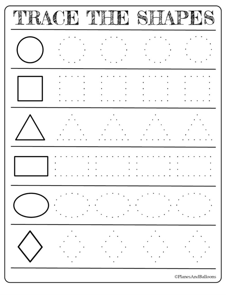 Worksheet ~ Tracing Shapes Printablet Free Alphabetts For