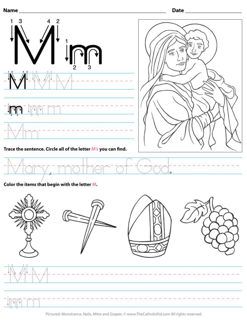 Worksheet ~ Tracing The Letter I Worksheets For Preschool For Letter M Worksheets Soft School