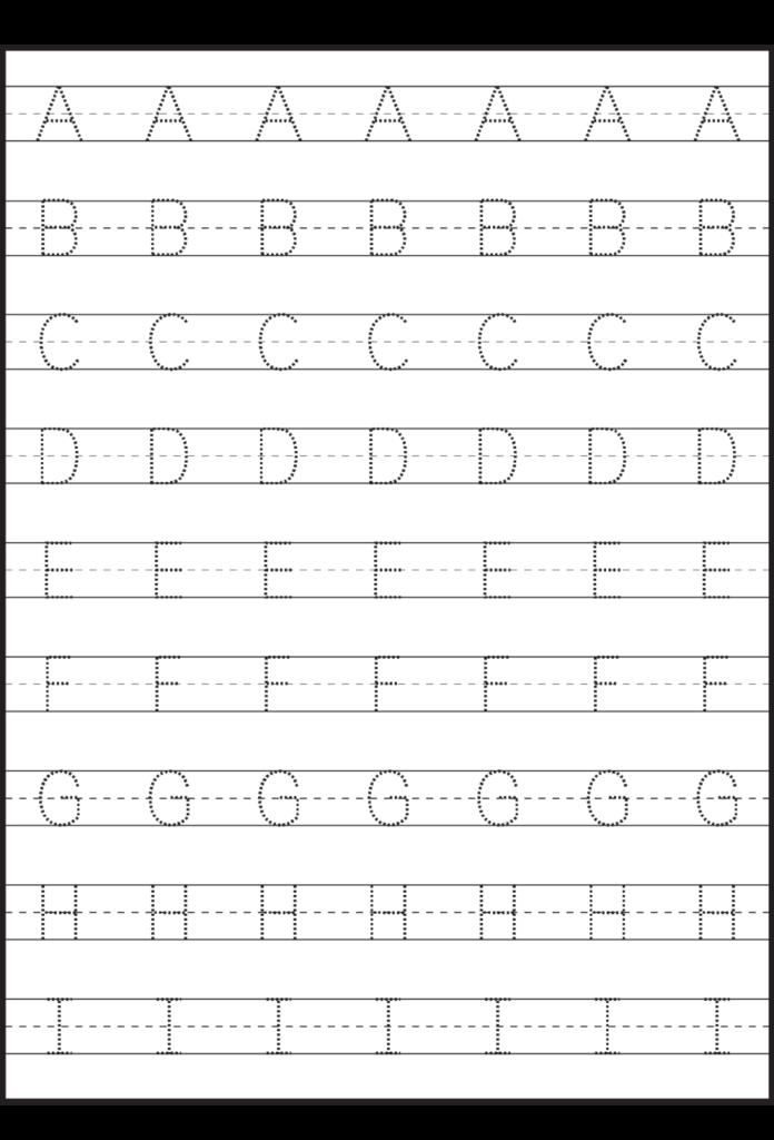 Worksheet ~ Tracing Uppercase Letters Capital Worksheets
