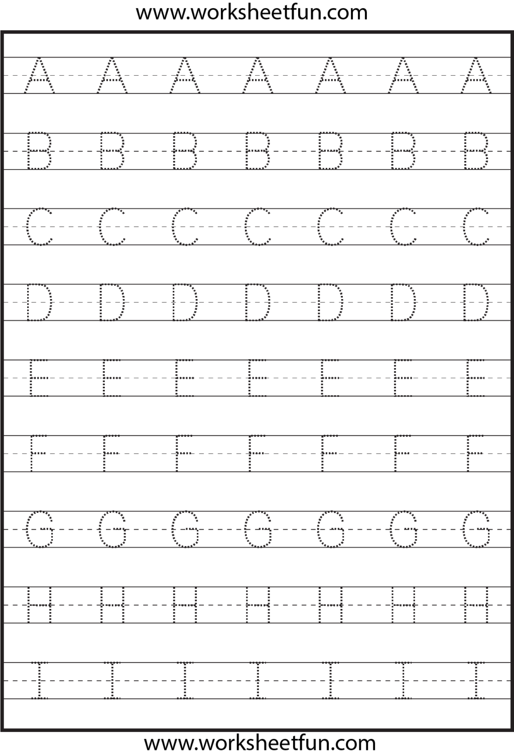 Worksheet ~ Tracing Uppercase Letters Capital Worksheets