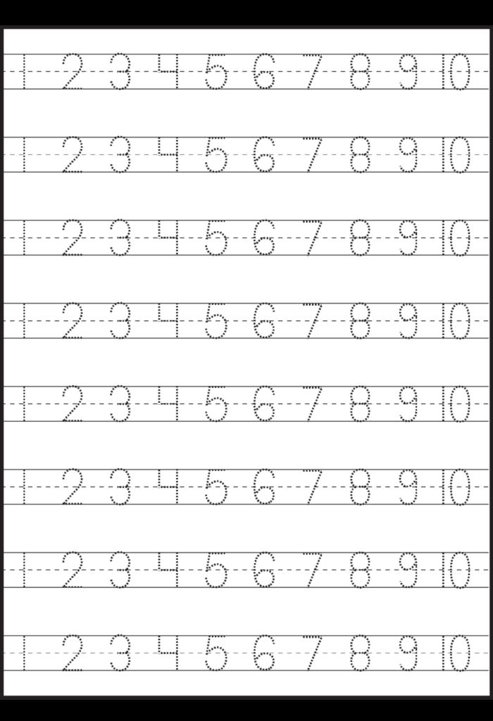 Worksheet ~ Tracing Worksheets For Kindergarten Stunning