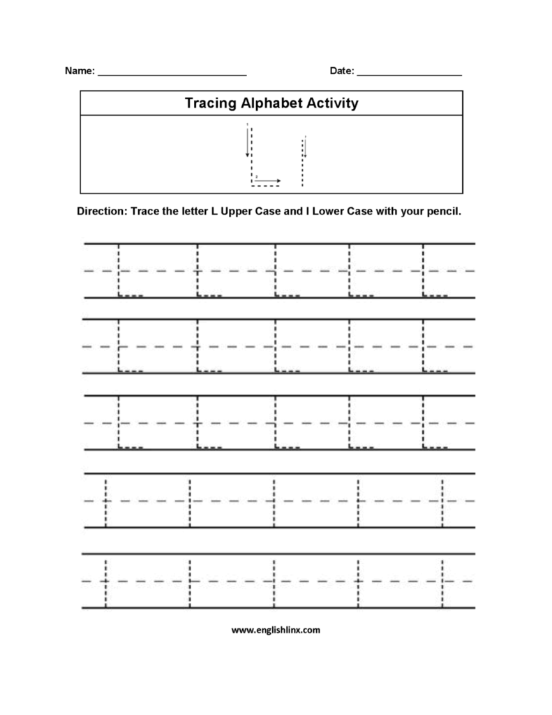 Worksheet ~ Tremendous Tracing Letter Sheets Alphabet Intended For Alphabet L Tracing