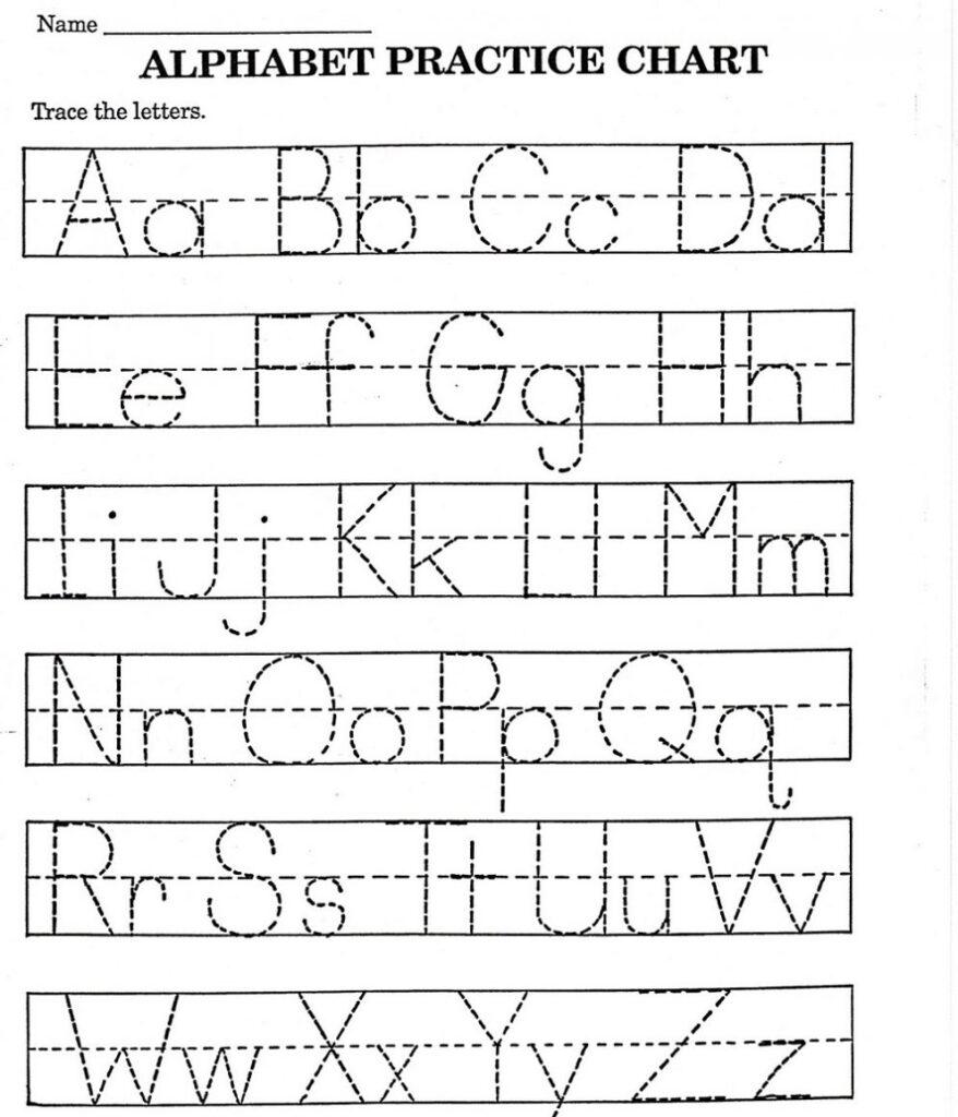 Worksheet ~ Worksheet Alphabet Tracing Worksheets For Throughout Alphabet Tracing Sheets For Kindergarten