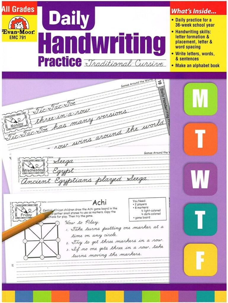 Worksheet ~ Worksheet Handwritingice Cursive Amazon Com Evan