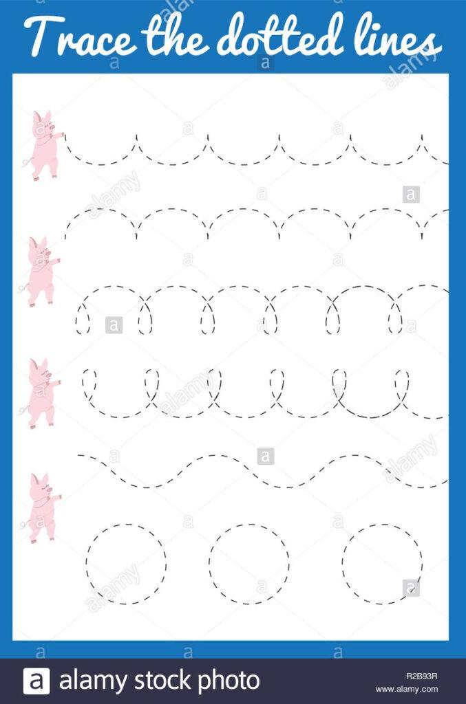 Worksheet ~ Worksheet Trace The Line Handwriting Practice