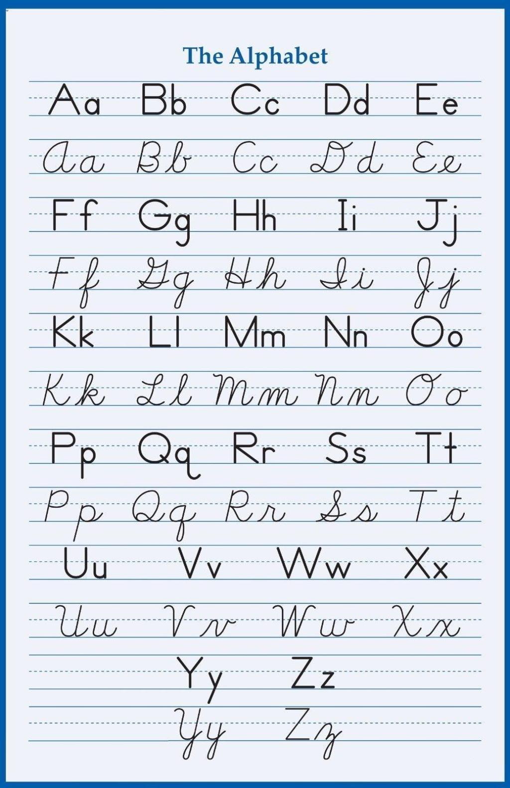 Worksheet ~ Worksheetphabet Handwriting Cursive Poster X And