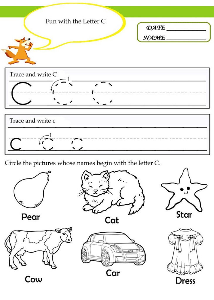Worksheet ~ Worksheetracehe Letter Worksheets Printable Pertaining To Letter C Worksheets For Kindergarten