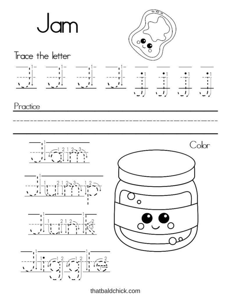Worksheet ~ Writing Practice Worksheet Letter J Alphabet For Letter J Worksheets Pdf
