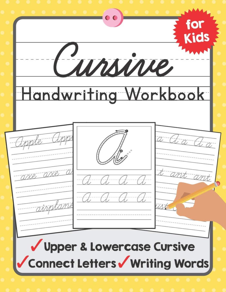 Worksheets : Cursive Handwriting Workbook For Kids Beginning