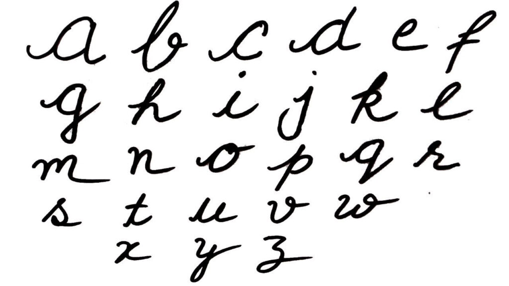 Worksheets : Cursive Writing Small Alphabets Capital Letter