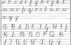 Cursive Writing The Alphabet