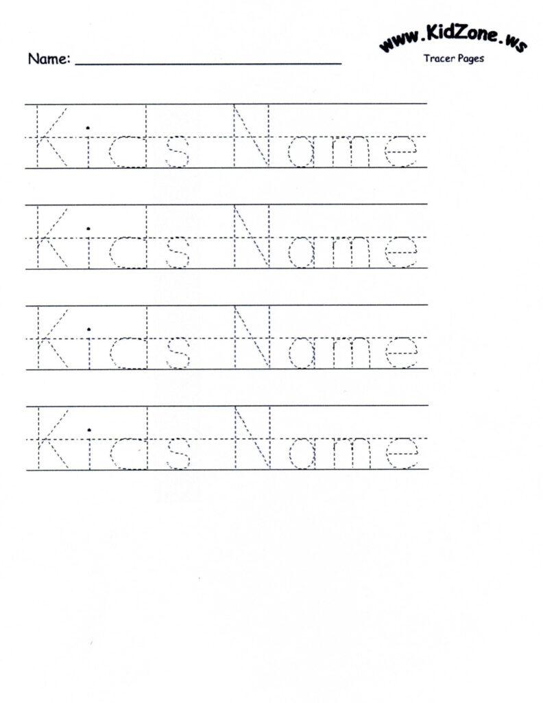 Worksheets : Customizable Printable Letter Pages Name Inside Name Tracing Worksheets For Kindergarten