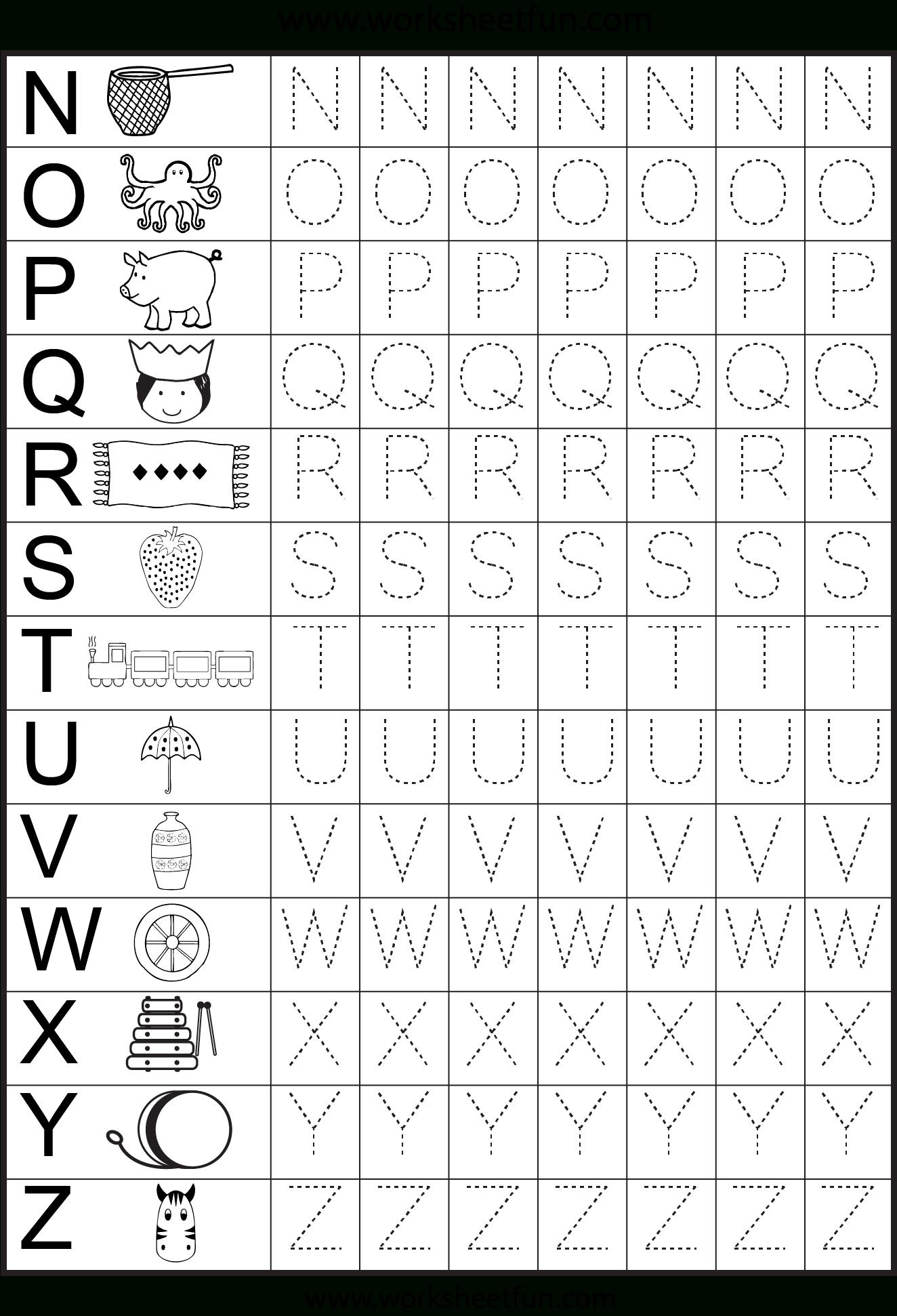 Worksheets For Kindergarten – Alphabet Tracing   Alphabet with regard to Alphabet Tracing Sheets For Kindergarten
