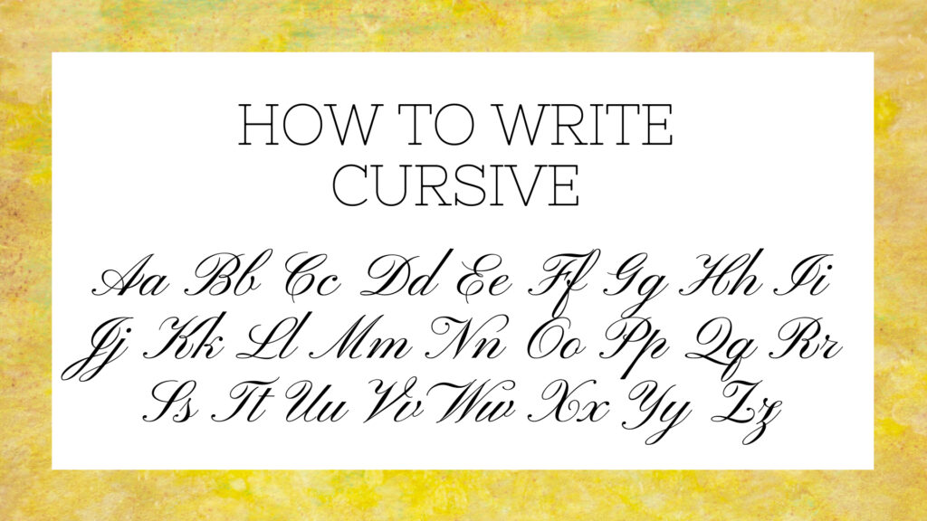 Worksheets : How Write Cursive Letters Science Trends