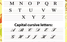 Cursive Alphabet Upper And Lowercase