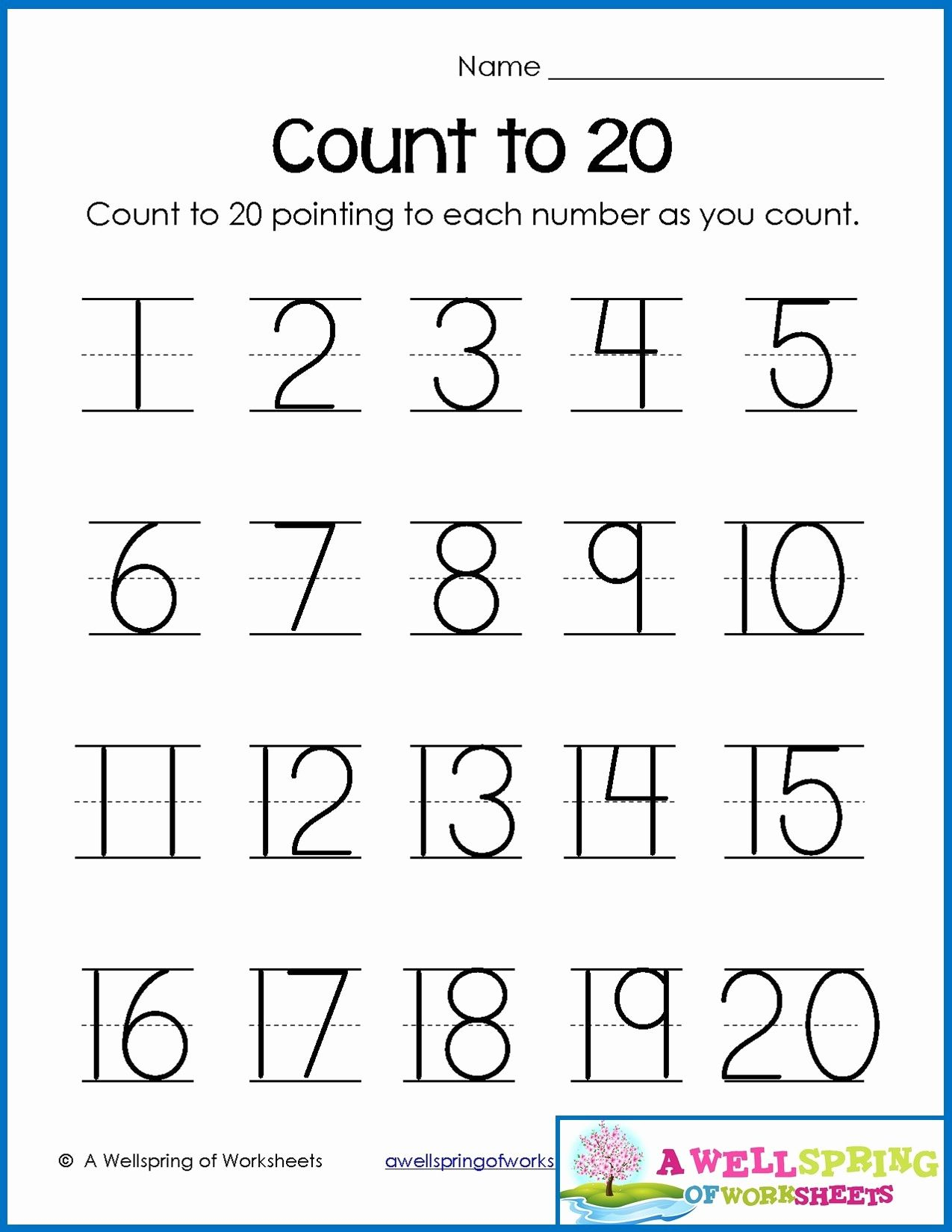Worksheets Numbers 1 To 20 In 2020 | Writing Numbers, Number