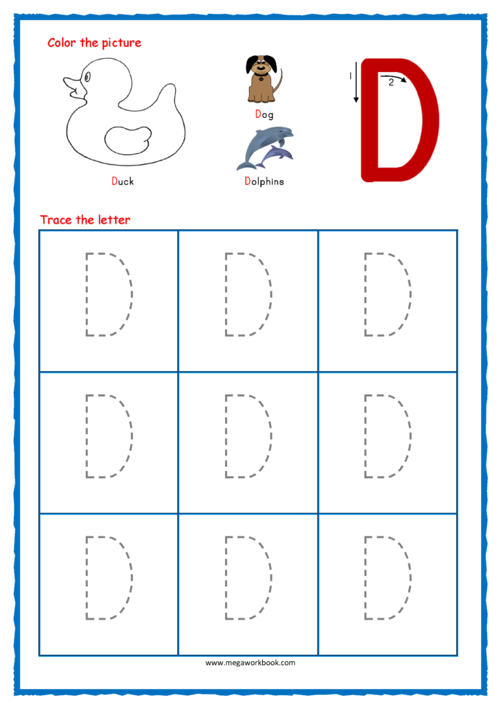 Worksheets Tracing C And D | Printable Worksheets And