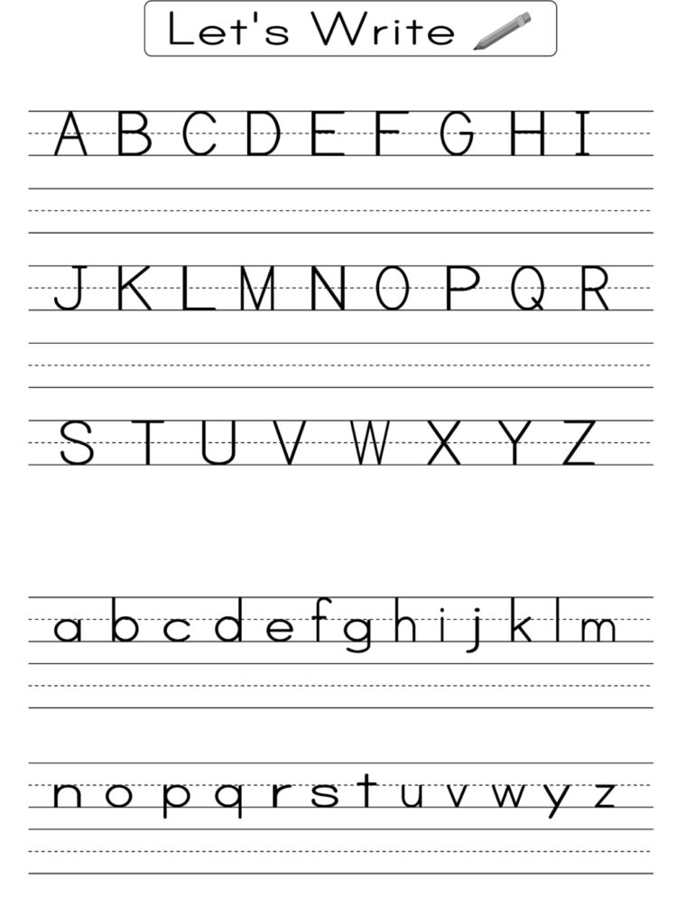 Worksheets : Worksheet Alphabet Writing Practice For