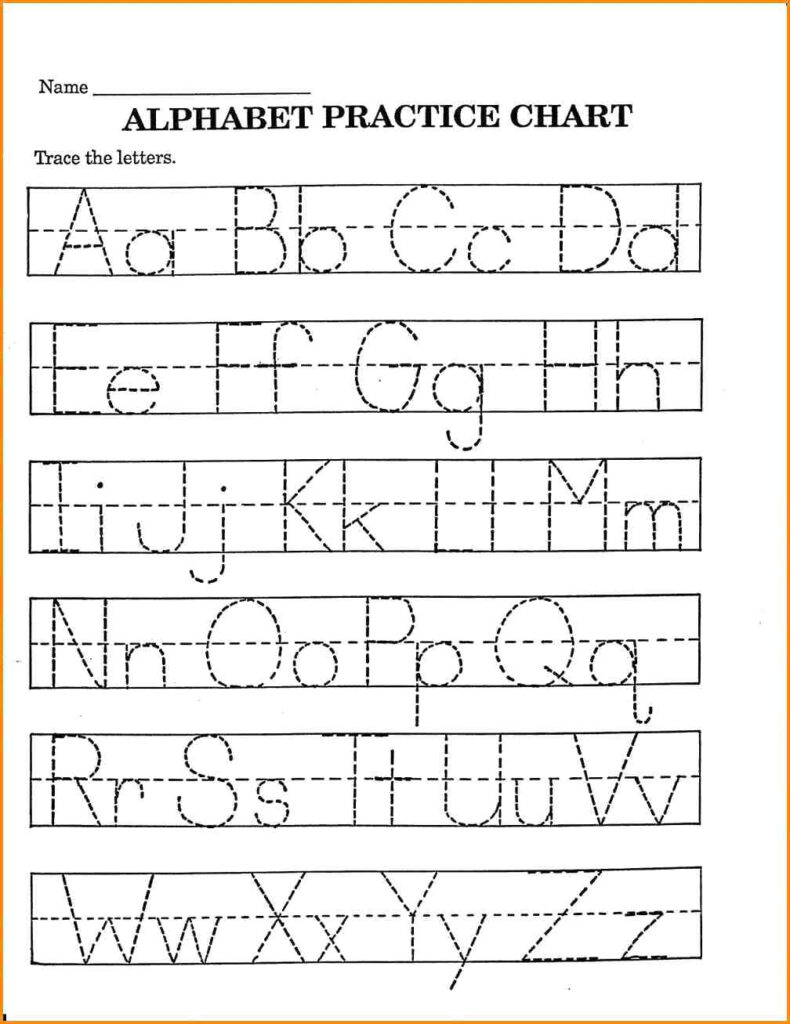 Worksheets : Worksheets Pdf For Western Alphabet Writing Pertaining To Alphabet Tracing Pdf