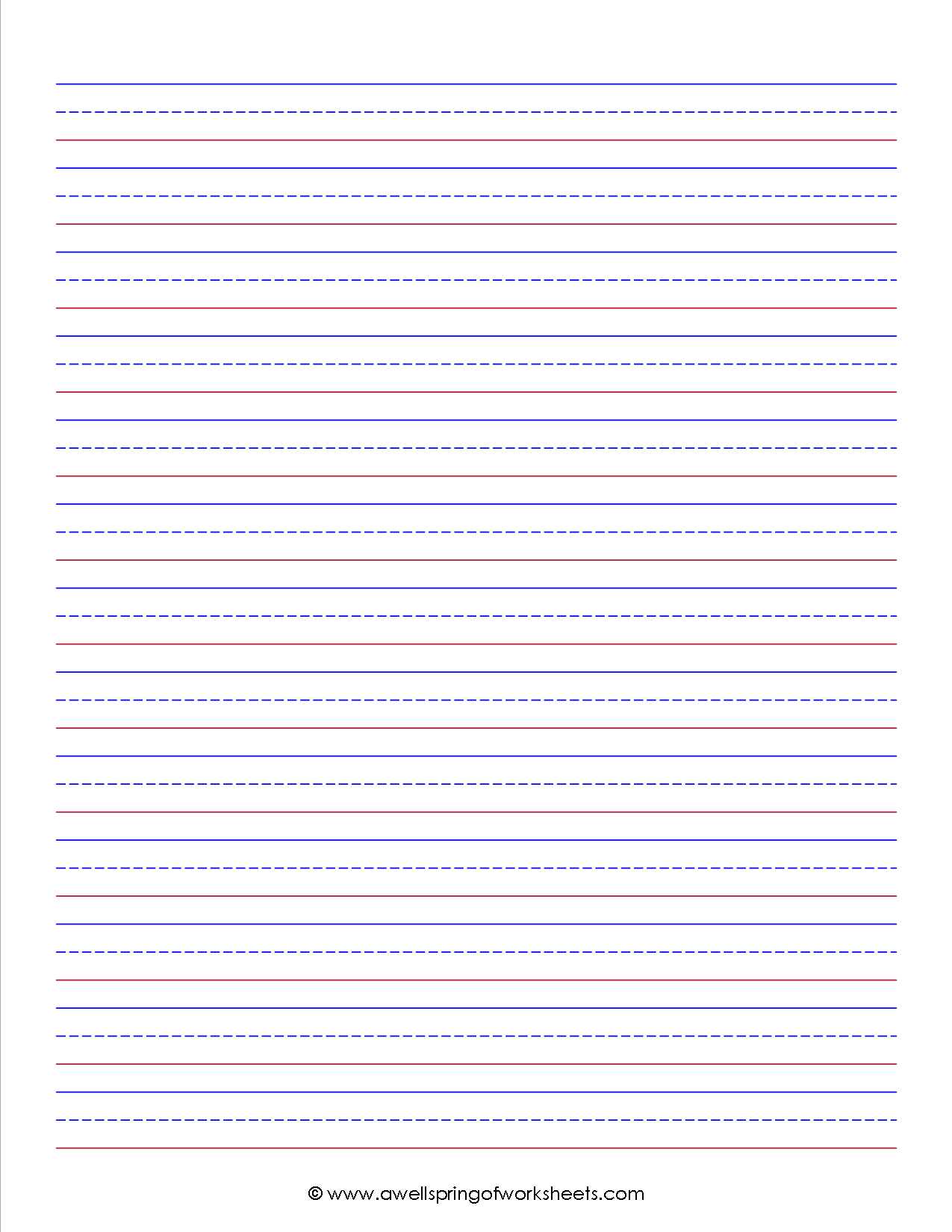 Worksheetssubject | A Wellspring Of Worksheets | Lined for Name Tracing Practice With Red And Blue Lines