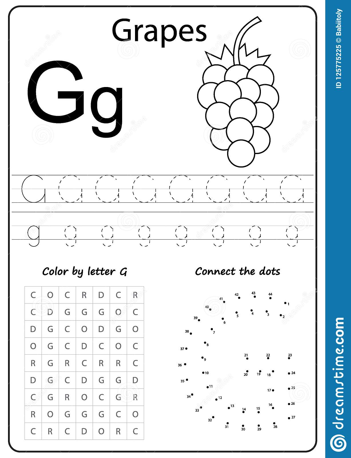 Writing Letter G. Worksheet. Writing A-Z, Alphabet with regard to G Letter Worksheets