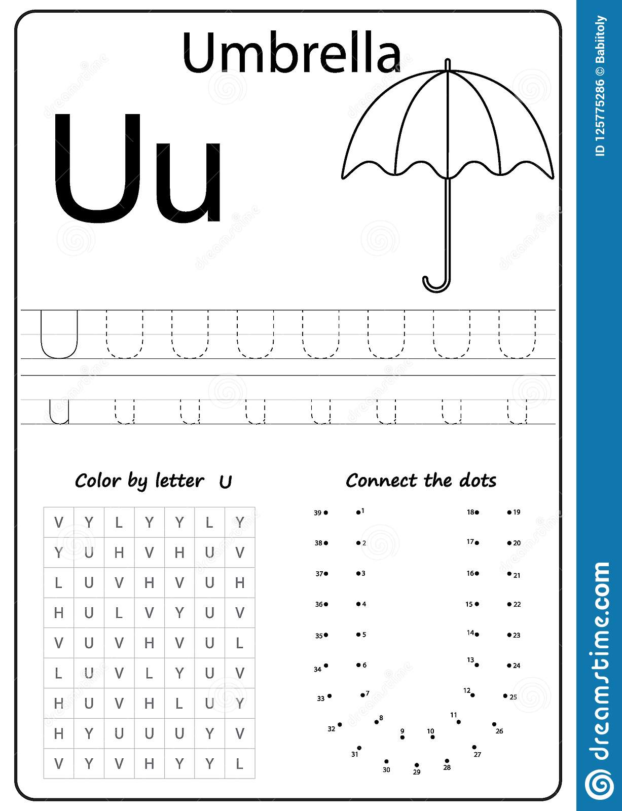 Writing Letter U. Worksheet. Writing A-Z, Alphabet pertaining to Letter U Worksheets