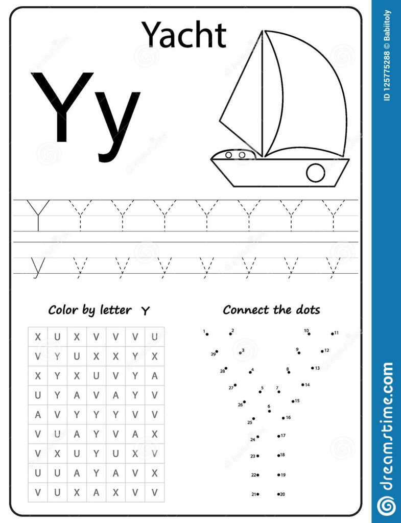 Writing Letter Y. Worksheet. Writing A Z, Alphabet With Letter Yy Worksheets