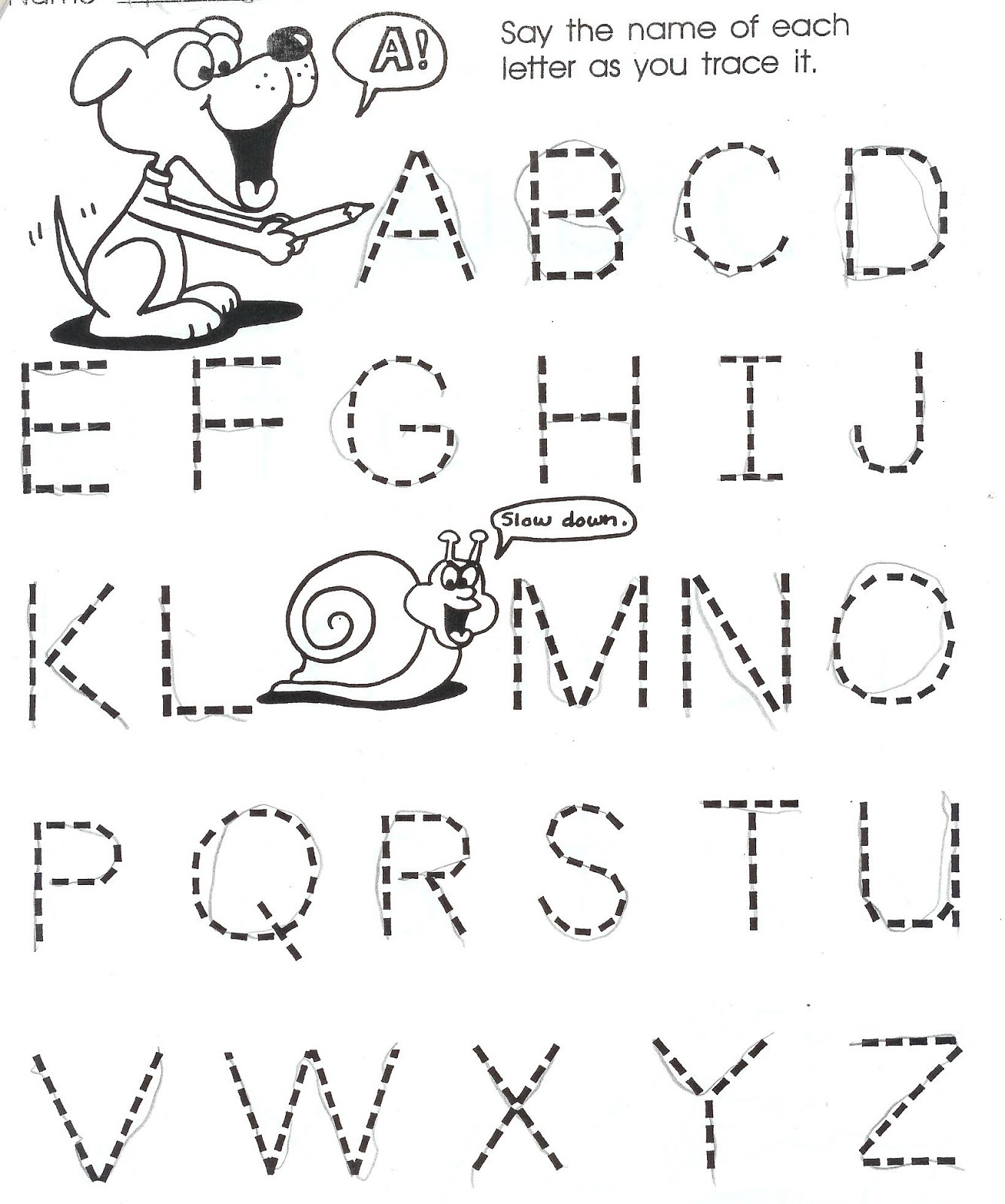 Year Old Worksheets Printable And Writing For Three Olds pertaining to Alphabet Tracing For 3 Year Olds