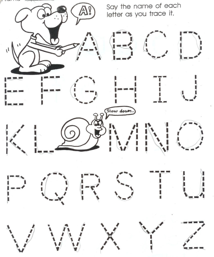 Year Old Worksheets Printable And Writing For Three Olds With Regard To Name Tracing Worksheets For 3 Year Olds