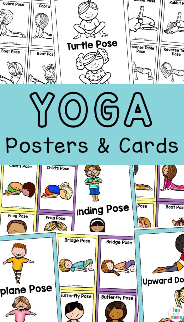 Yoga Cards For Kids   Great For Brain Breaks   Fun With Mama For Alphabet Yoga Exercises
