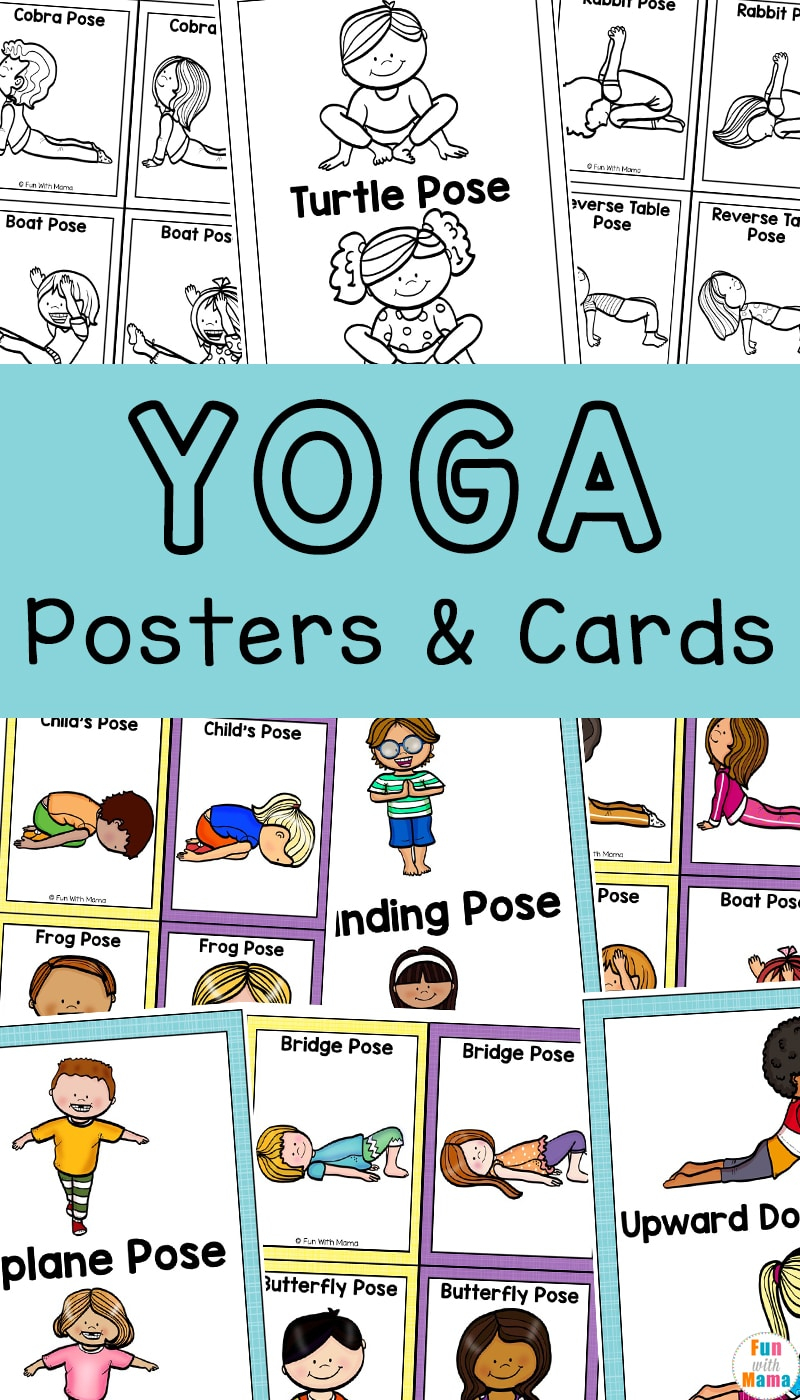 Yoga Cards For Kids - Great For Brain Breaks - Fun With Mama for Alphabet Yoga Exercises