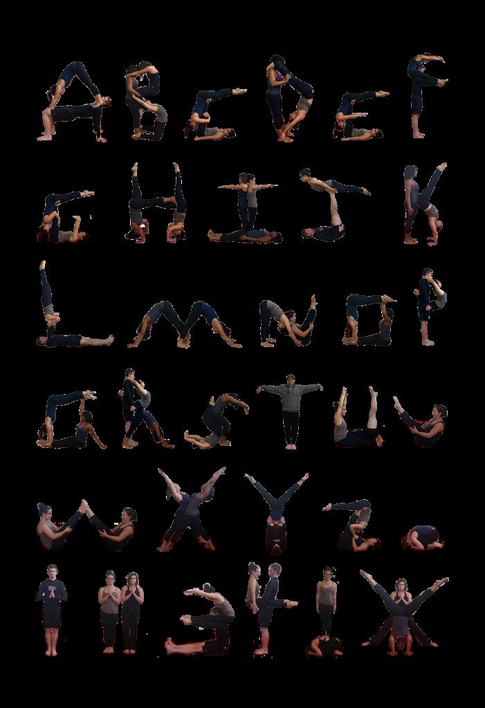 Yoga Poses Alphabet With Alphabet Yoga Exercises
