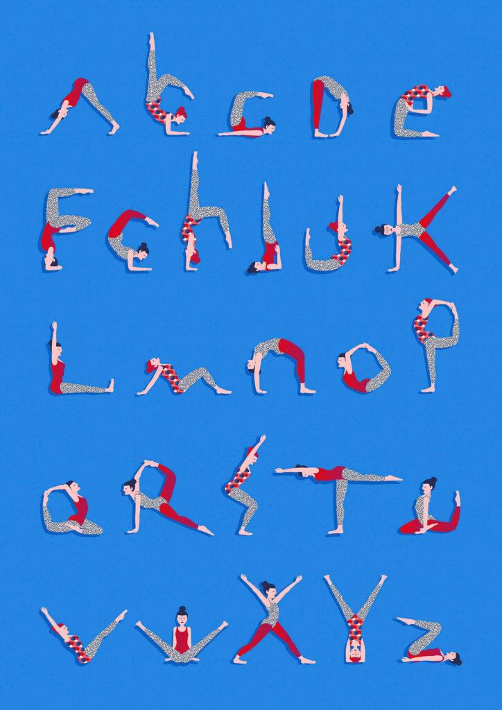 Yogalphabet   Typostrate   Featuring Rebeka Arce Pertaining To Alphabet Yoga Exercises