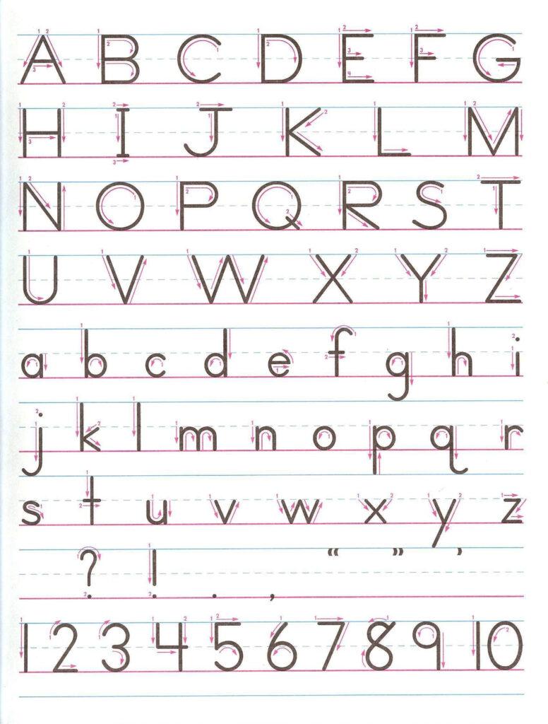 Zaner Bloser Manuscript   Print For Handwriting Practice