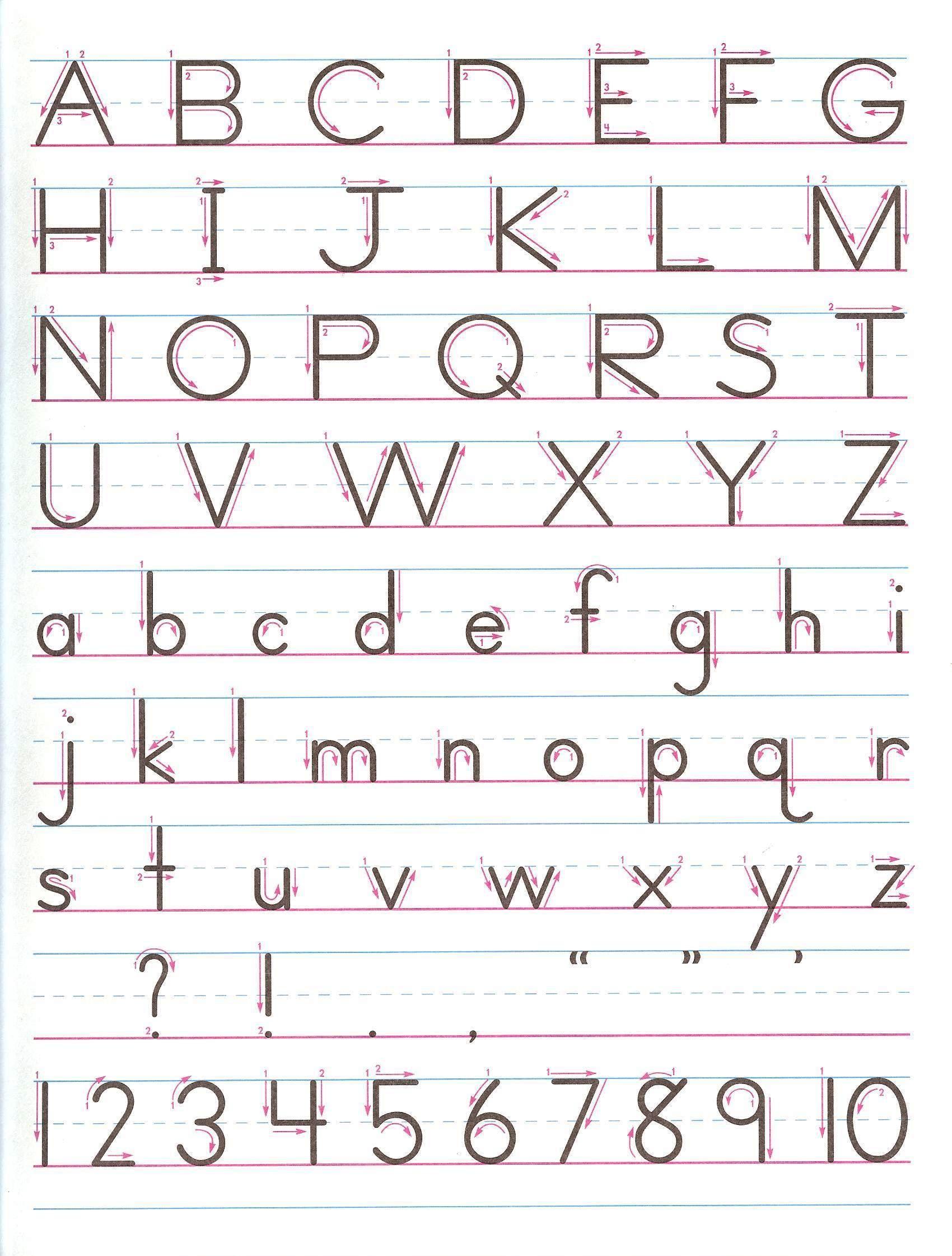 Zaner Bloser Manuscript - Print For Handwriting Practice