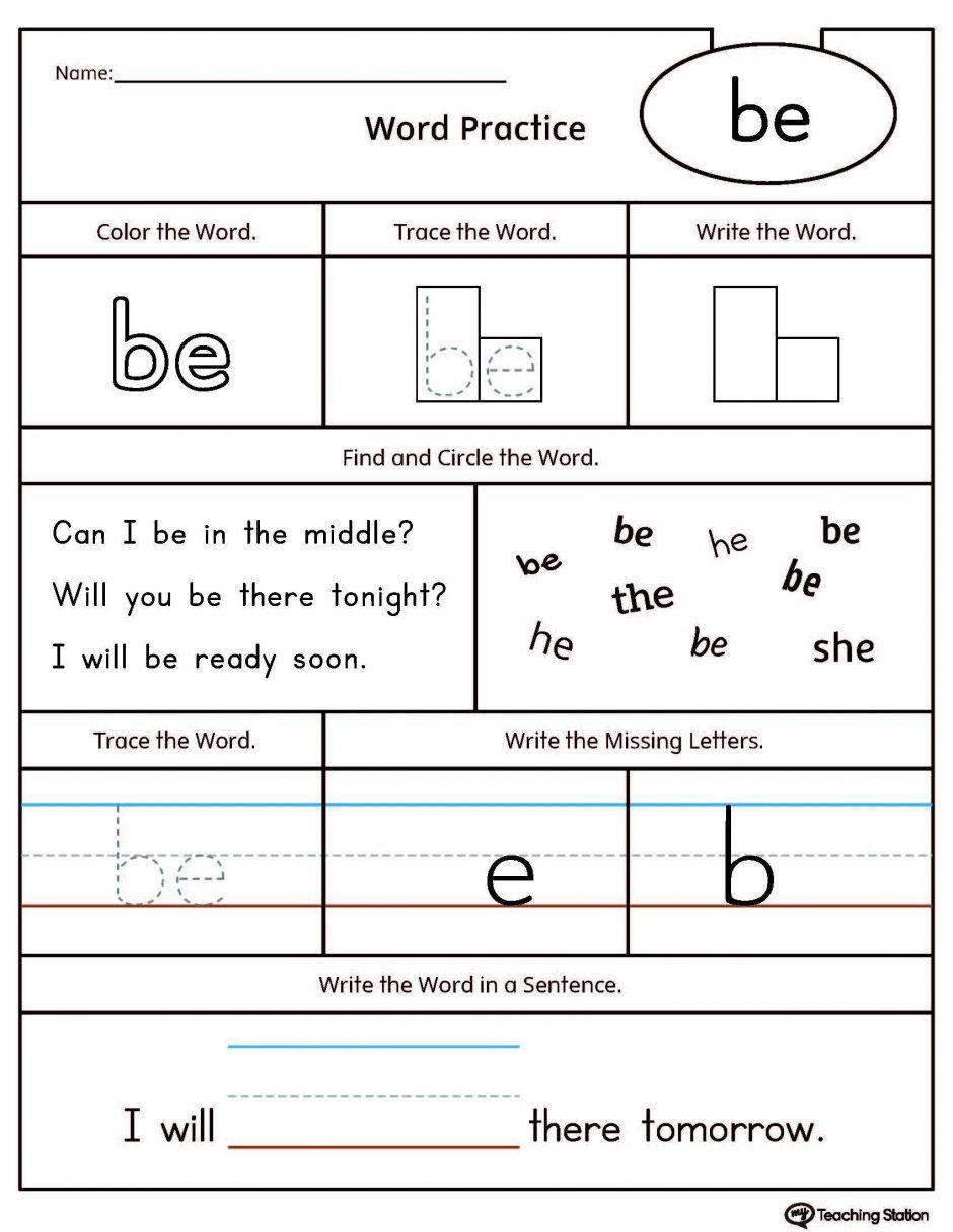 100 Printable Free Sight Word Worksheets For Words Kinderg