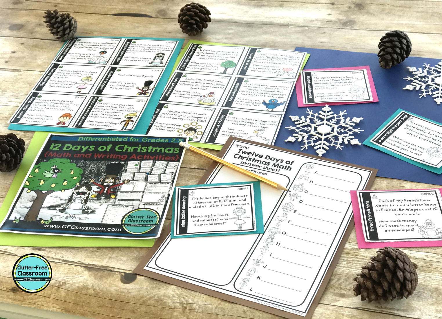 12 Days Of Christmas Math And Writing Activities | Jodi