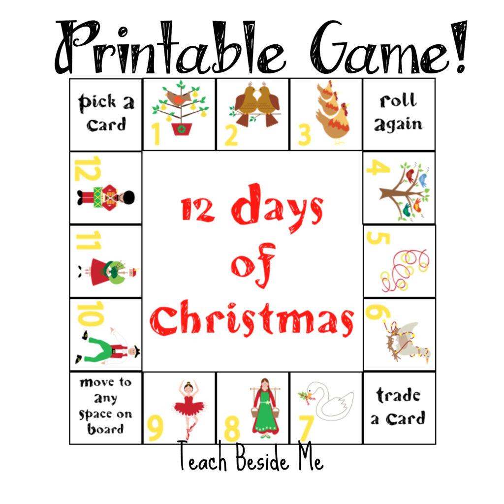 12 Days Of Christmas Printable Game – Teach Beside Me