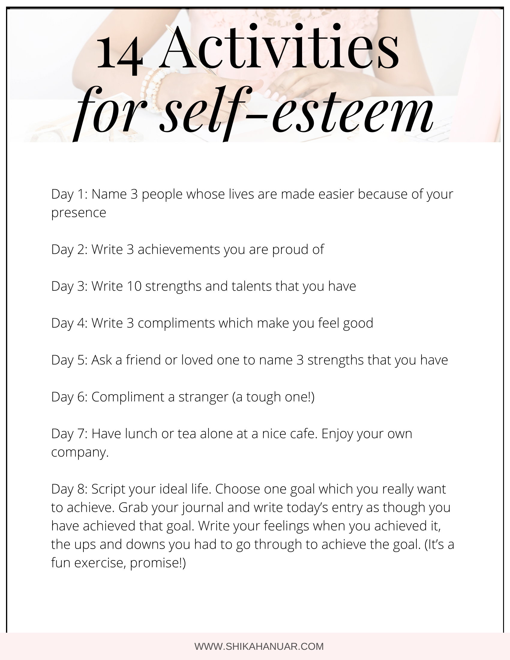 14 Activities To Build Your Self-Esteem And Self-Worth