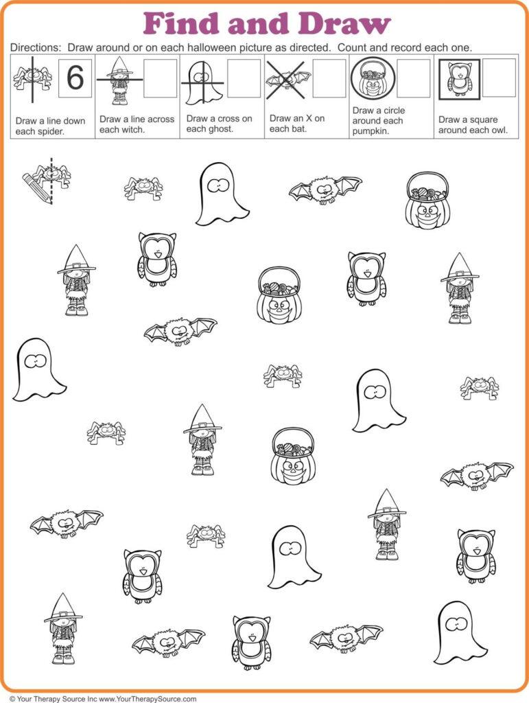 16 Free Halloween Printables   Sensory Motor Skills | Visual