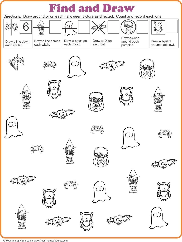 16 Free Halloween Printables - Sensory Motor Skills | Visual