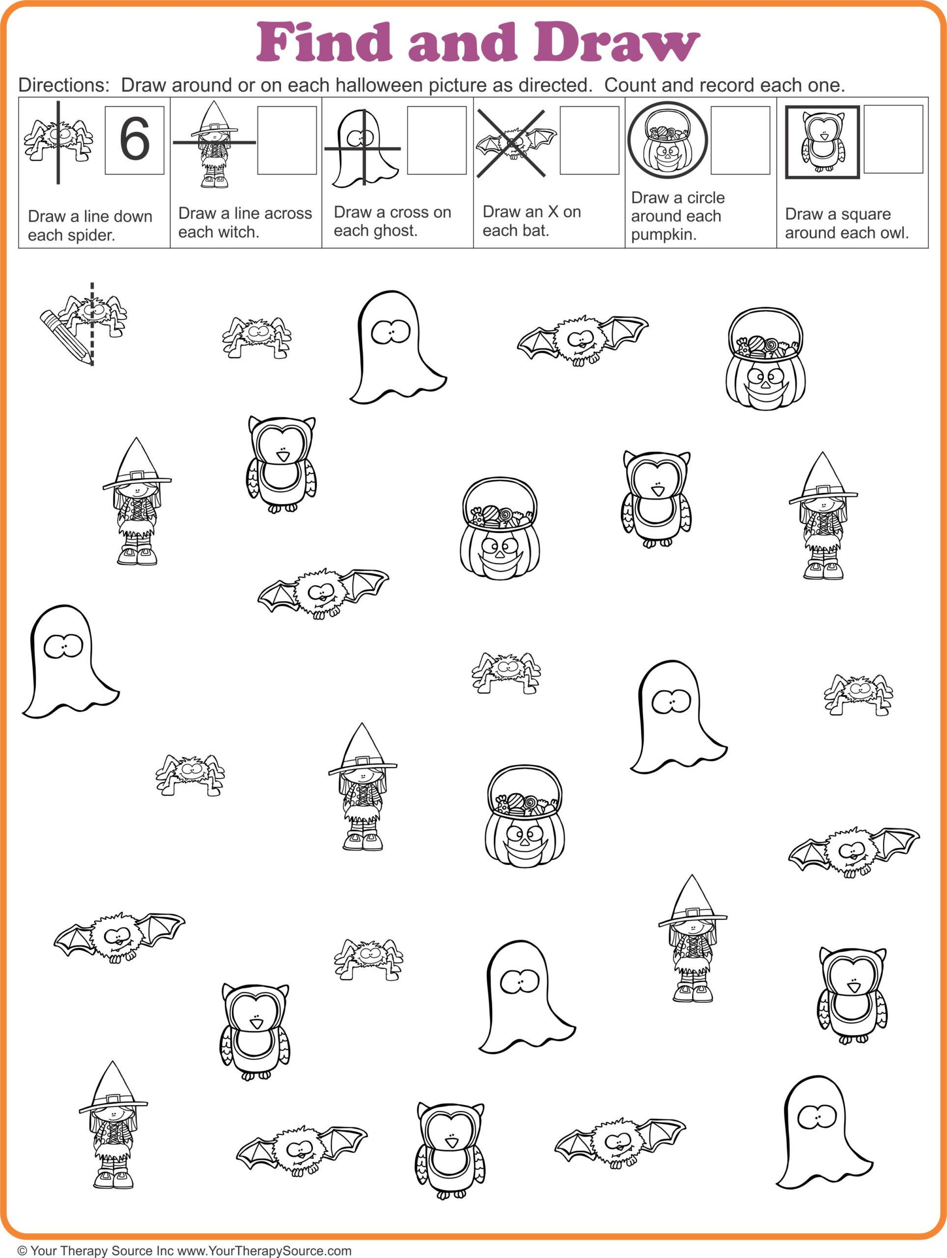 16 Free Halloween Printables - Sensory Motor Skills - Your