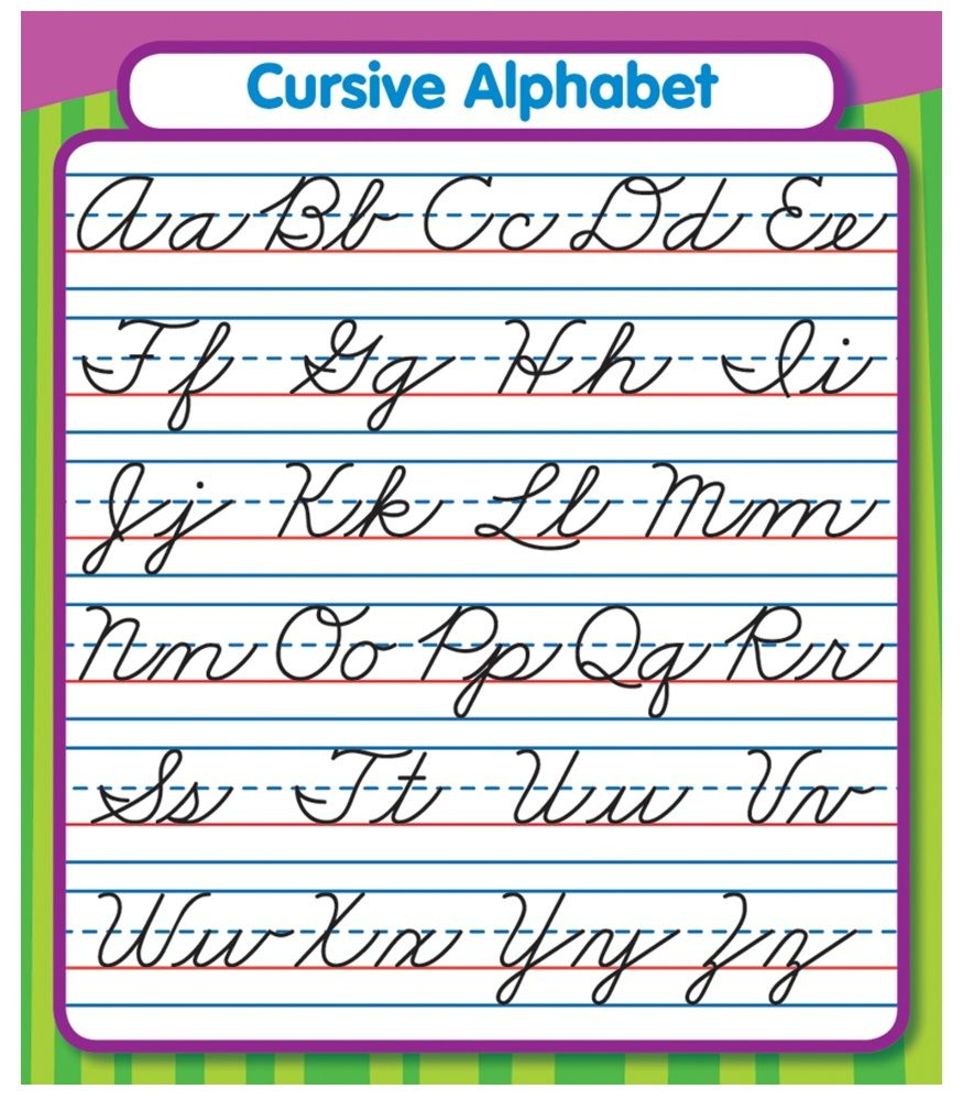 168072 (875×1000) | Teaching Cursive, Cursive Alphabet