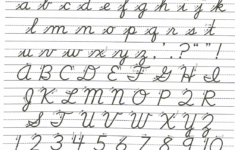 Cursive Alphabet In Small Letter