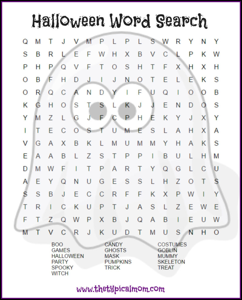 2 Free Halloween Word Search Printable Pages | Halloween